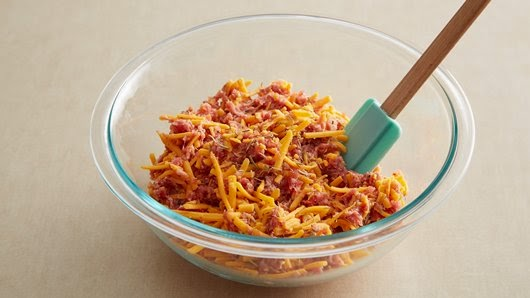 lb bulk Spicy Sausage 2 cups shredded Sharp Cheddar Cheese (8 ounces ...