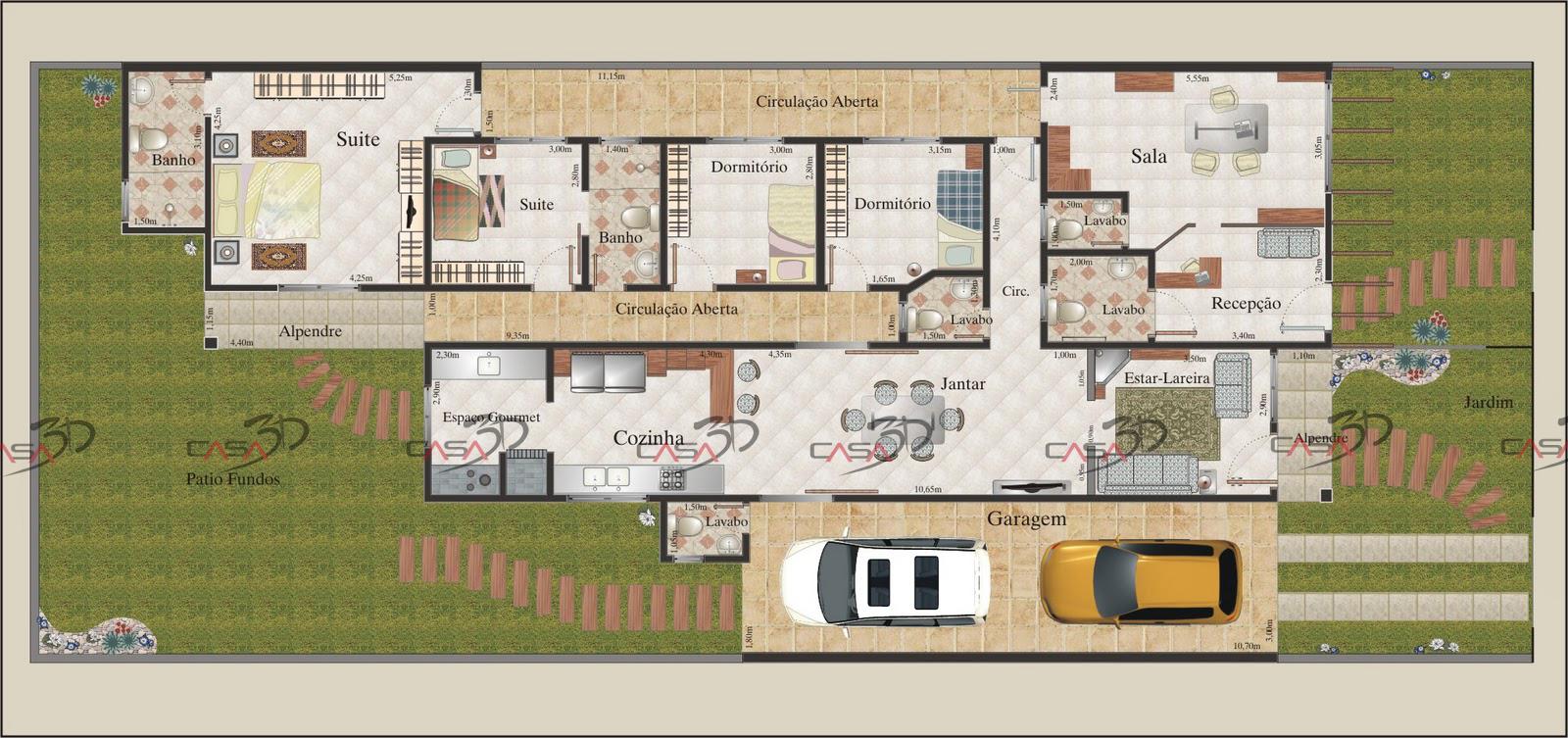 Casa 3d casa 3d plantas humanizadas 2d for Casas en 2d