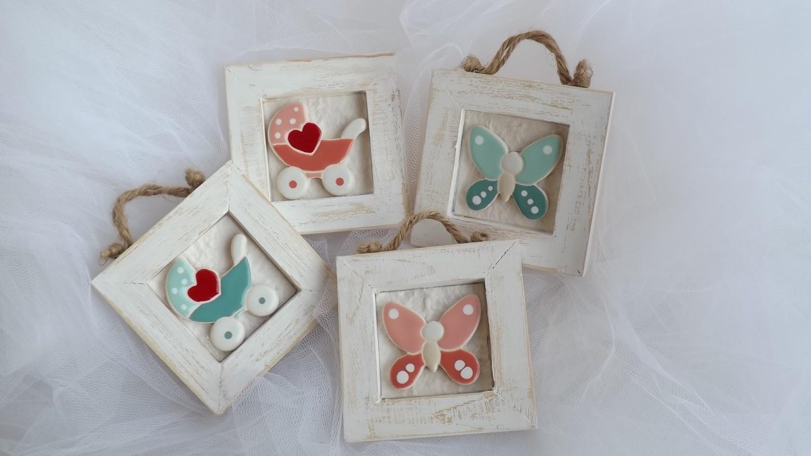 Ceramica come mestiere piccoli quadri come bomboniera per for Piastrelle 8x8