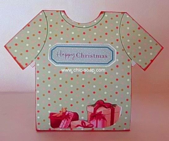 Foto envoltorio camiseta temática navideña