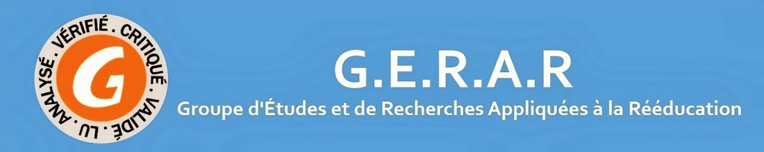 Le blog du GERAR
