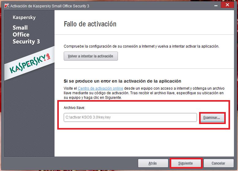 Cuando tengan seleccionado el archivo *key dan clic en Siguiente y ...