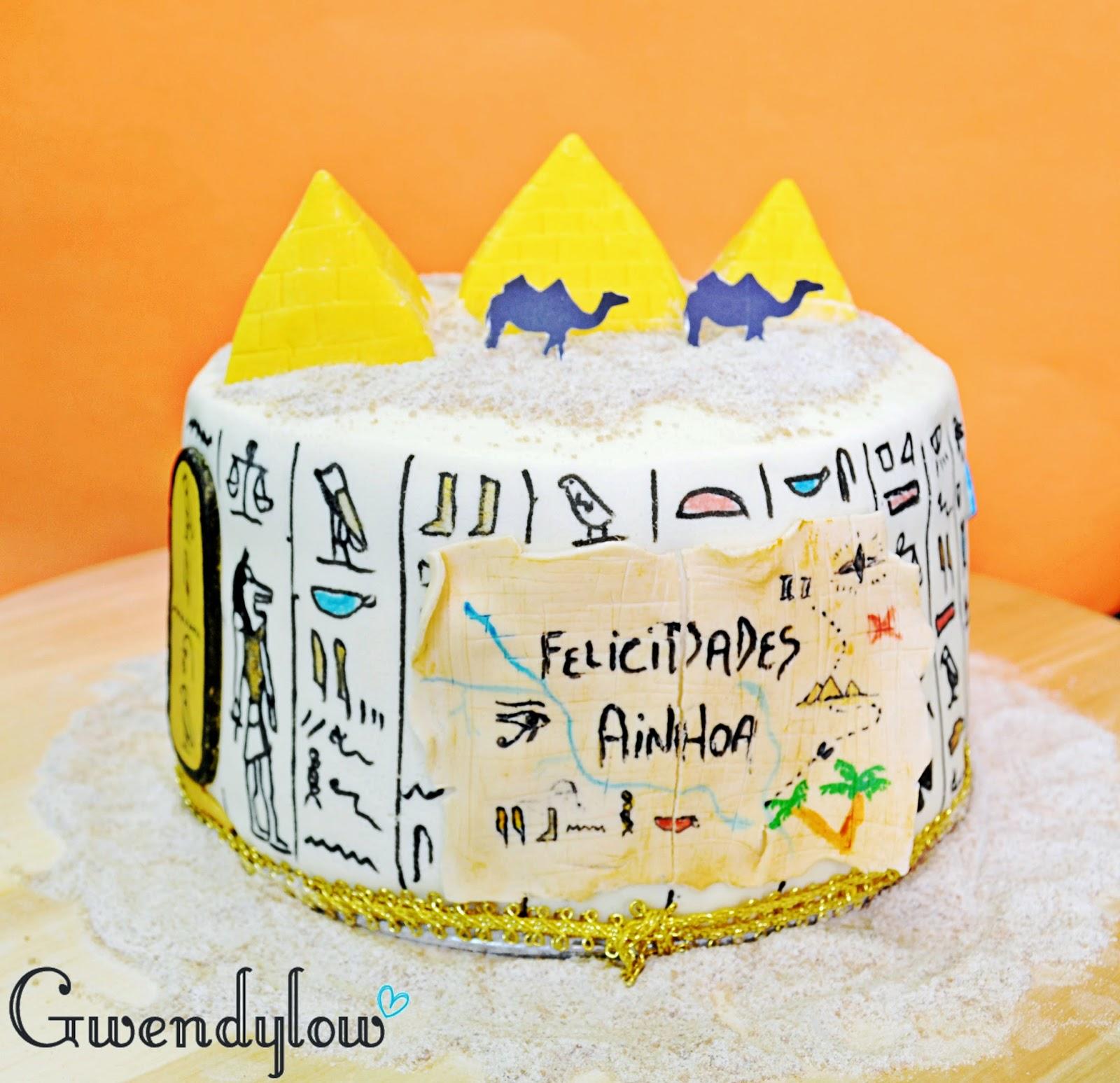 Tarta Egipto... ¡¡¡El domingo 13 fue mi cumpleaños!!! - Relleno ...