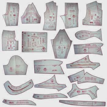 9653f86697 Nesse Kit contém moldes para corte e costura de Vestidos