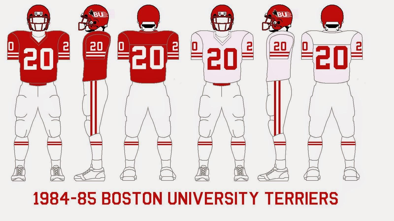 gridiron garb boston university terriers 198487