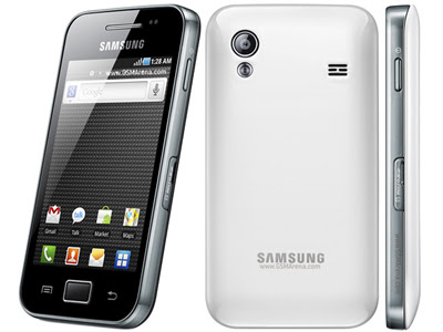 Imagenes del Samsung Galaxy Ace Frontal, Trasera y Lateral