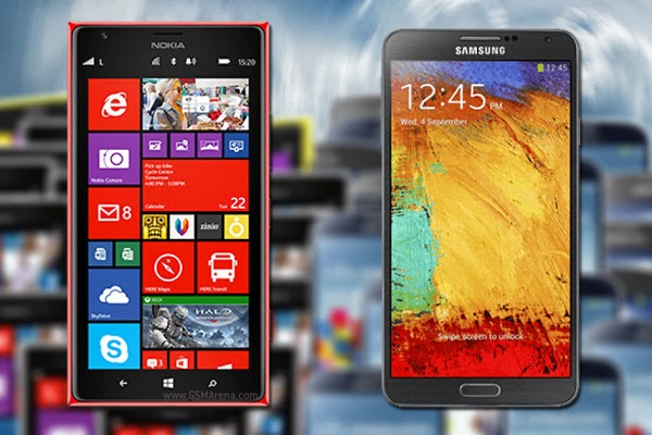 Samsung Galaxy Note 3 vs. Nokia Lumia 1520