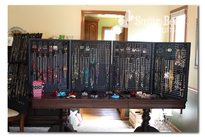 Belle S Bazaar Jewelry Display Peg Board
