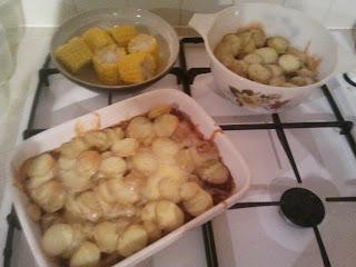 Potatoes and sweetcorn bites