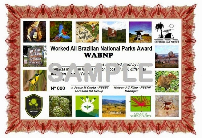 Worked All Brazillian National Parks Awarld