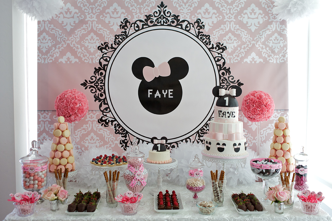 Cocoa Fig Pretty Pink Birthday Cake And Dessert Table With