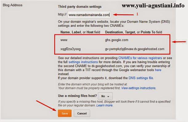 [update] Cara mengarahkan domain dari idhostinger ke blogger