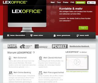 Screenshot Lexoffice.de