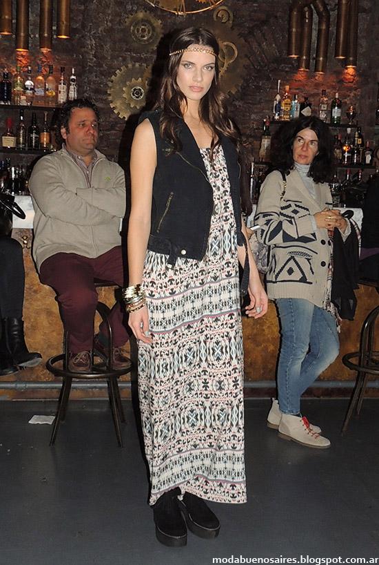 Vestidos largos primavera verano 2015 moda Argentina Inédita.