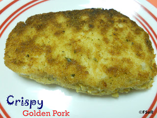 Crispy Golden Pork | A simple but fabulous way to fix pork chops when you need something fast! #recipe #pork