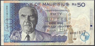 Mauritius 50 Rupees 1998 P# 48
