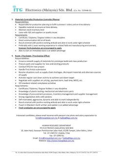 Peluang Kerjaya ITG Electronik