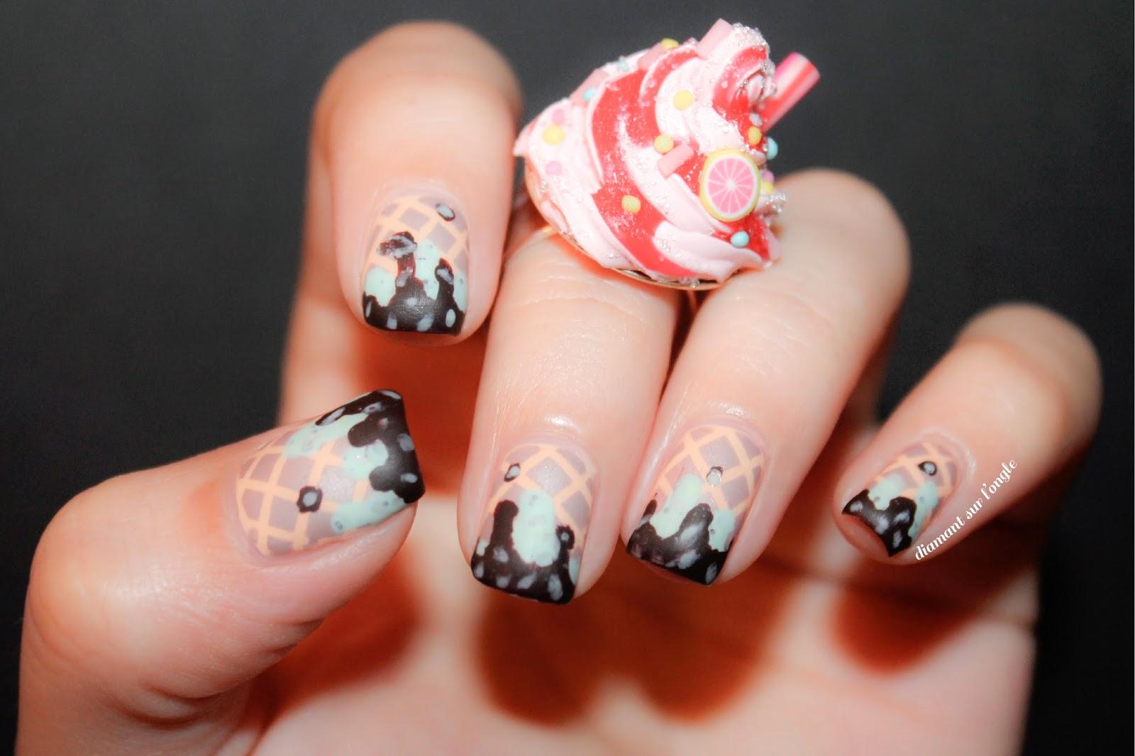 Nail art glace