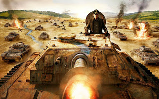Commander In Tank Blast Bullet HD Wallpaper