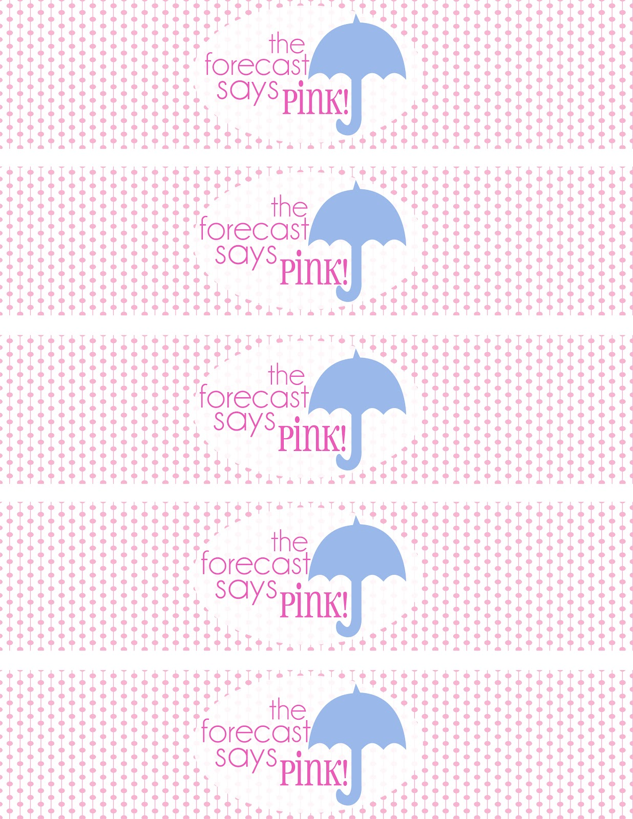 52 Mantels The Forecast Says PINK Baby Shower Printables