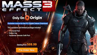 Mass Effect 3 origin
