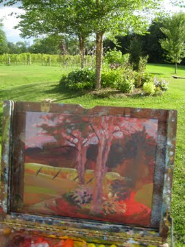 Candy Barr Artist Mad River Vineyard Garden 81311