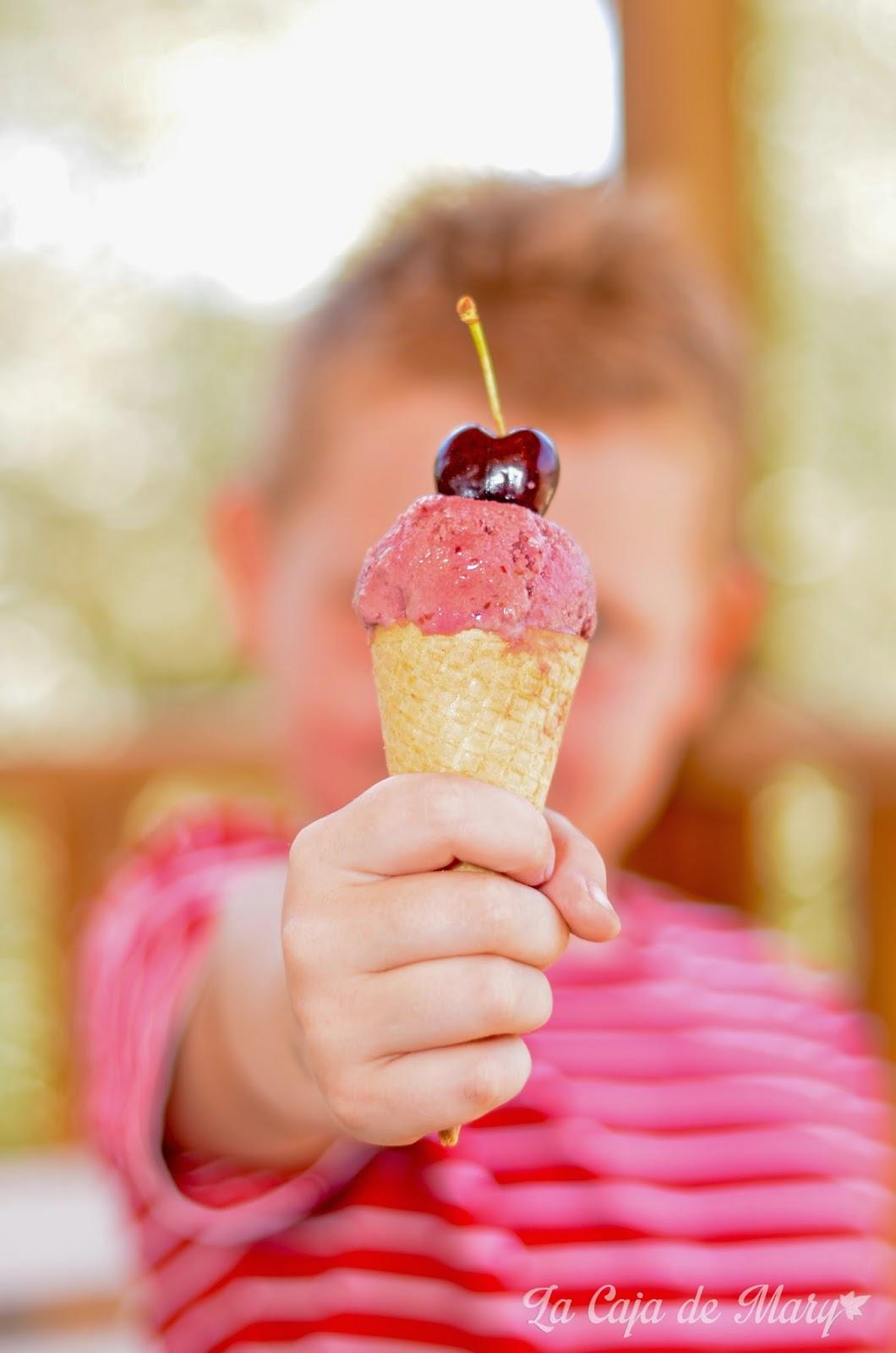 helado-cerezas