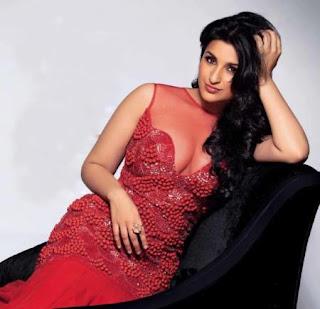 Pareenit Chopra in red dress
