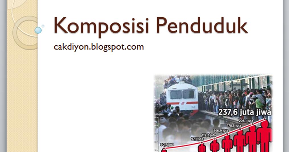 Bahan Ajar Ips Smp Komposisi Penduduk