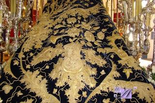 Manto Virgen Presentación Calvario hermanas Antúnez 1902 Virgen PAciencia Carmona