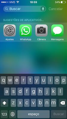 Sugestões de apps da Siri - iOS 9