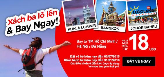 Air Asia mở bán các đợt vé máy bay giá rẻ liên tục