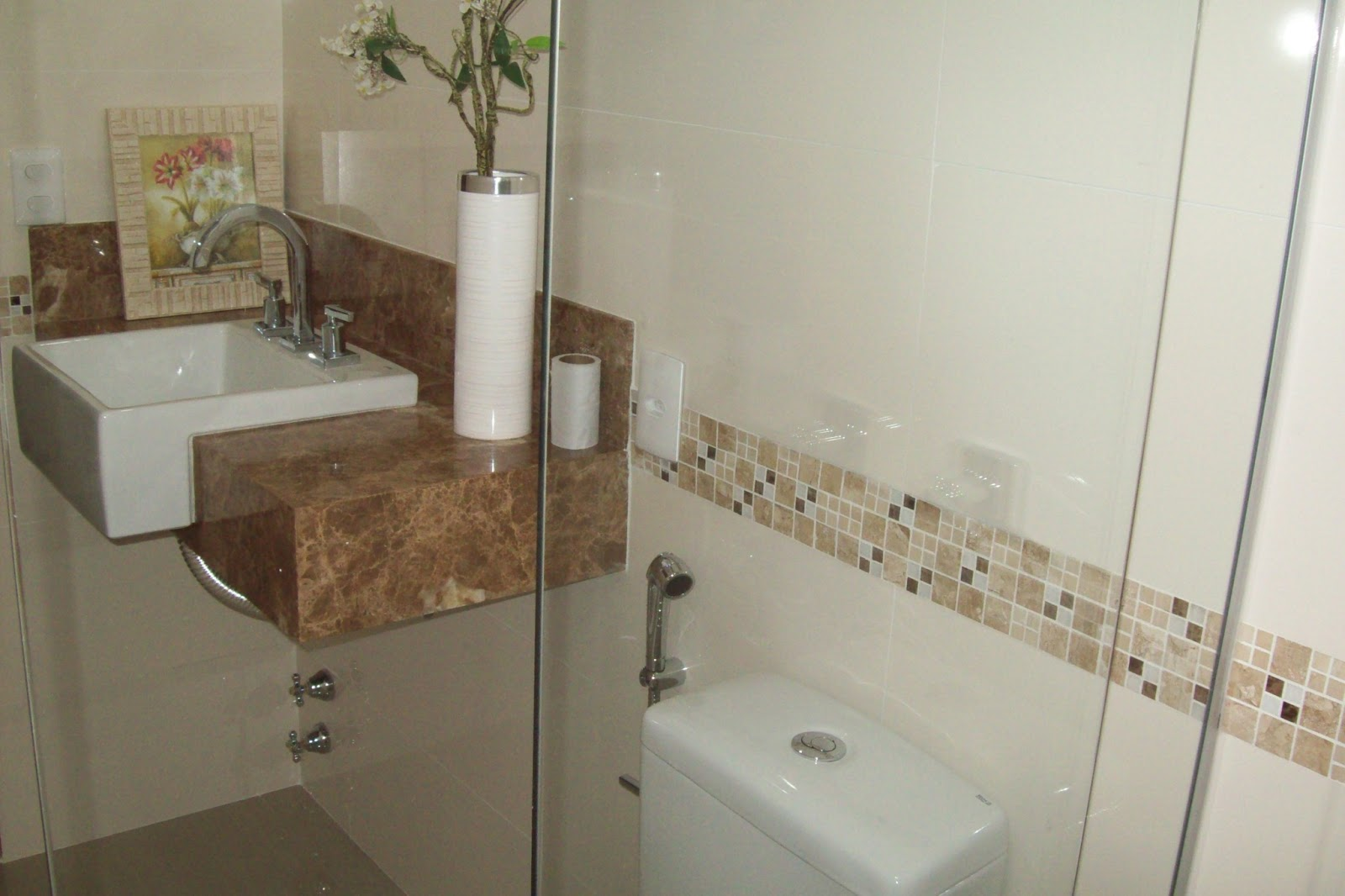 Construções Domingos Banheiro com Nicho -> Nicho Para Banheiro Embutido