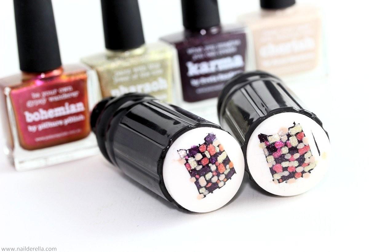 Reverse stamping with piCture pOlish Karma - Nailderella