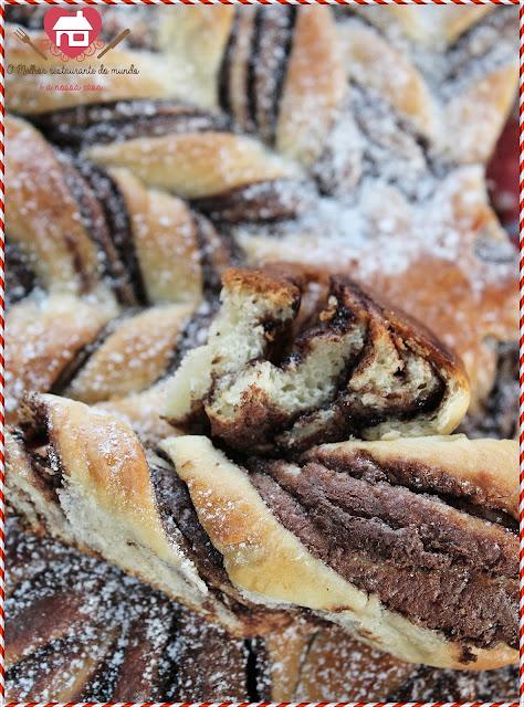 Receita fácil de Flor de Pão Brioche com Nutella  com passo a passo