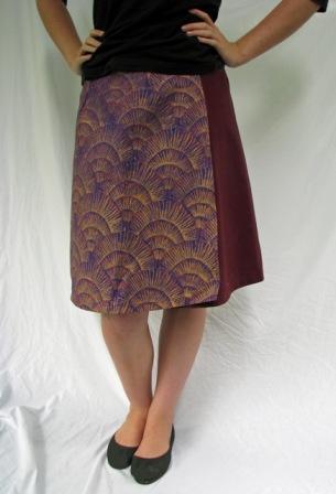 wrap skirt - grasses