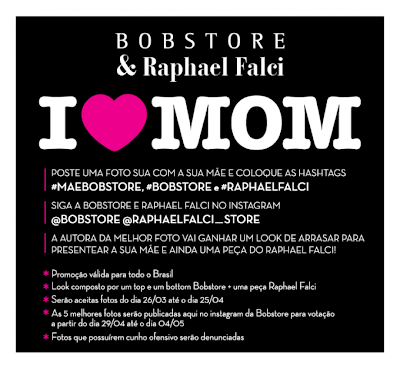Concurso Cultural Dia das Mães Bobstore
