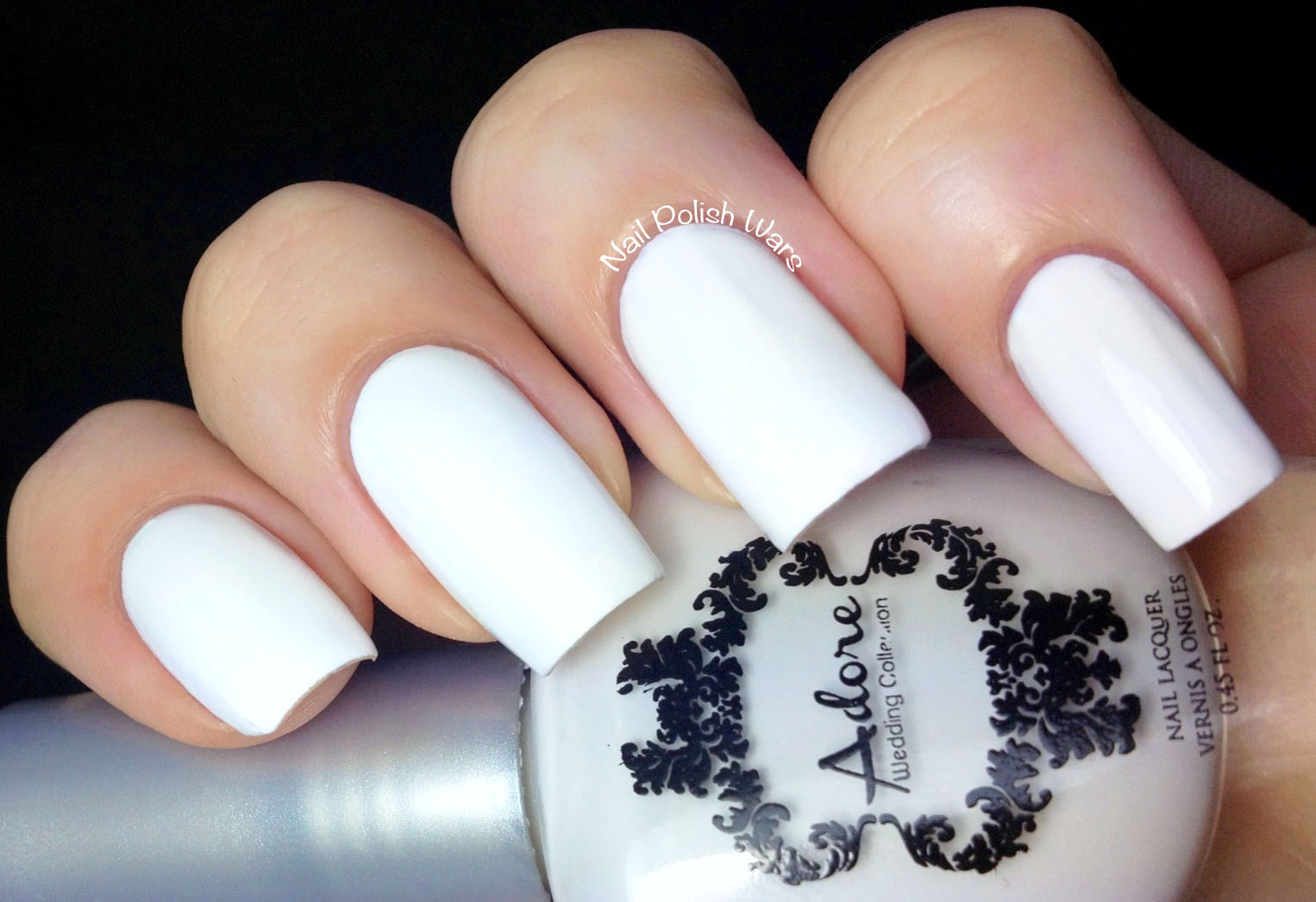 Luxury White Matte Nail Polish Illustration - Nail Art Ideas ...