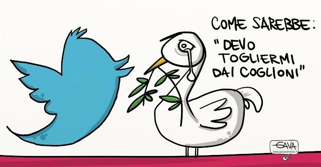 Twitter Papa Gava Satira Vignette