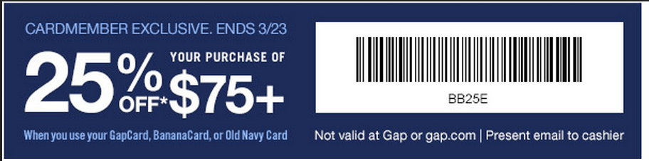 Baby gap coupons