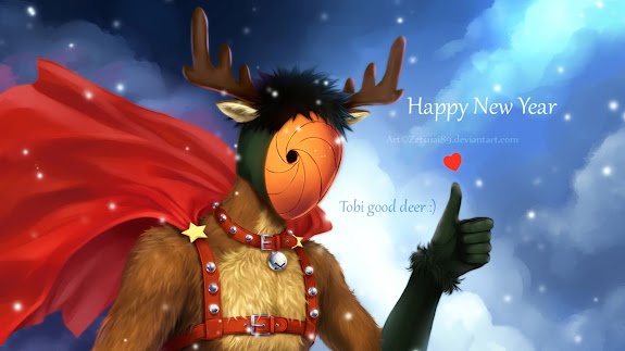 obito tobi uchiha mask reindeer costume happy new year christmas