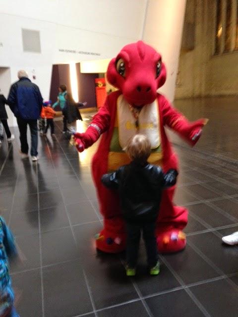 ROM dino mascot, Cornelius the dinosaur