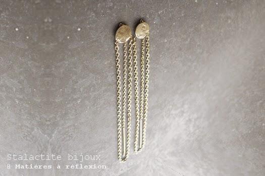 Boucles sequin chaîne en vermeil de Stalactite bijoux