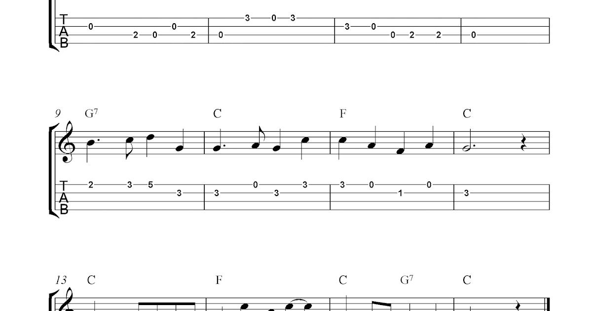 Swanee River Free Ukulele Tab Sheet Music