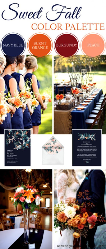 1000 ideas about Fall Wedding Colors on Pinterest  Wedding