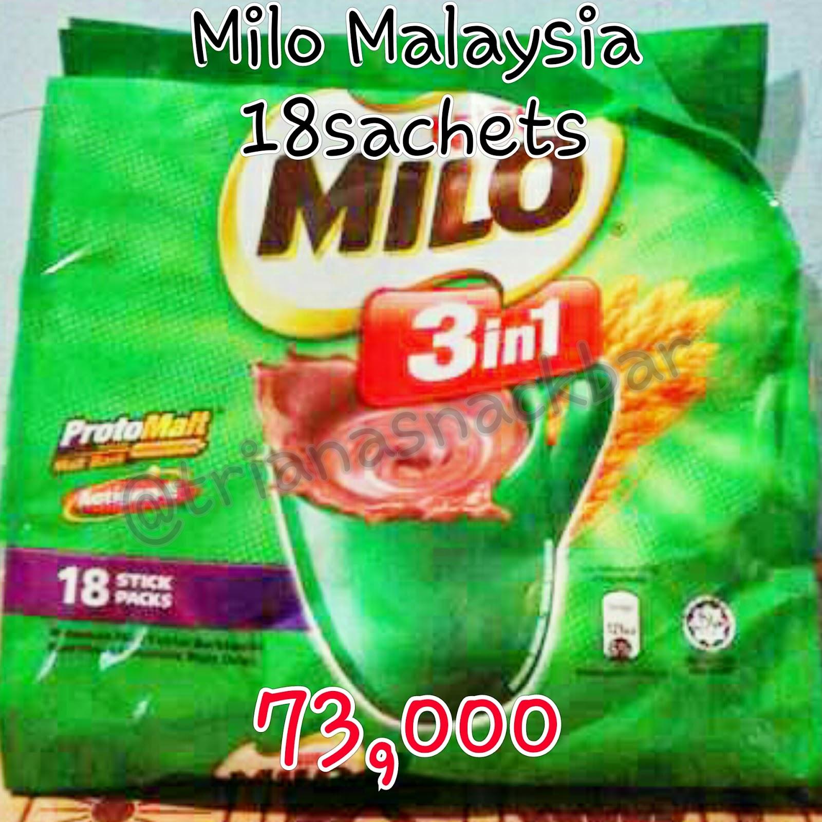 Triana Onshop Milo Protomalt Malaysia Sachet 3 In 1