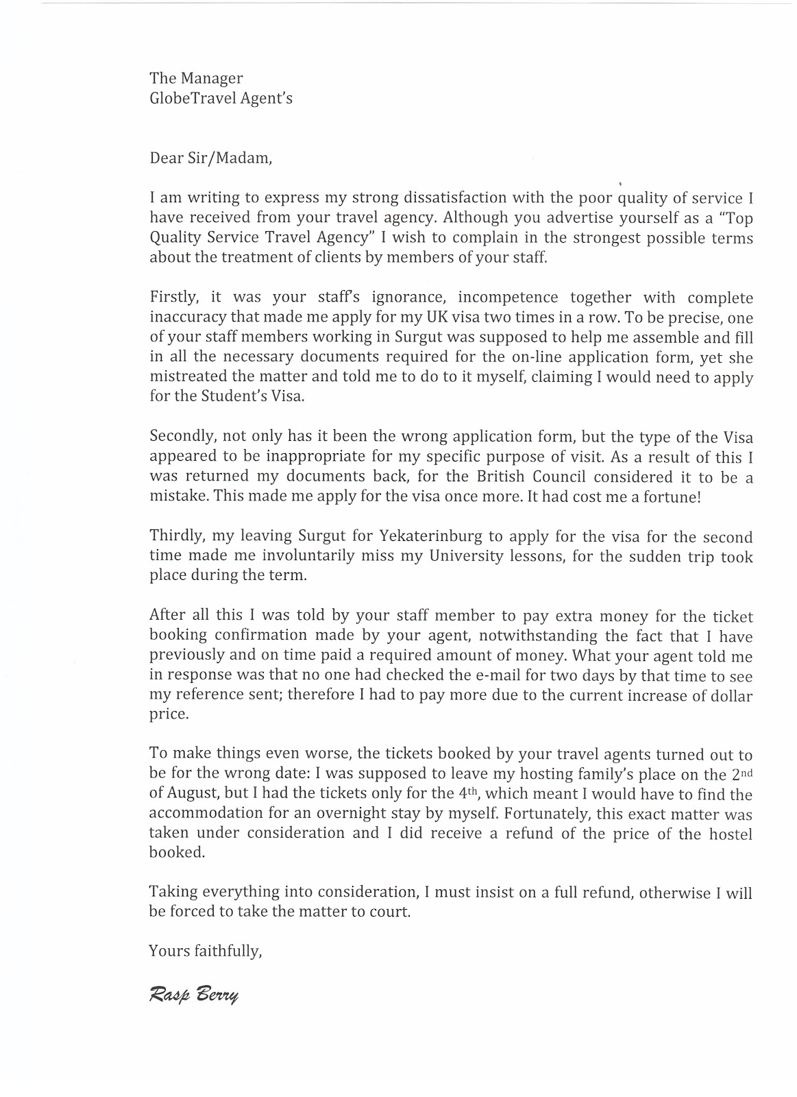Complaint letter essay samples 5 complaint email examples samples how to structure your letter of complaint your letter of complaint should follow the standard composition format for a formal letter spiritdancerdesigns Image collections