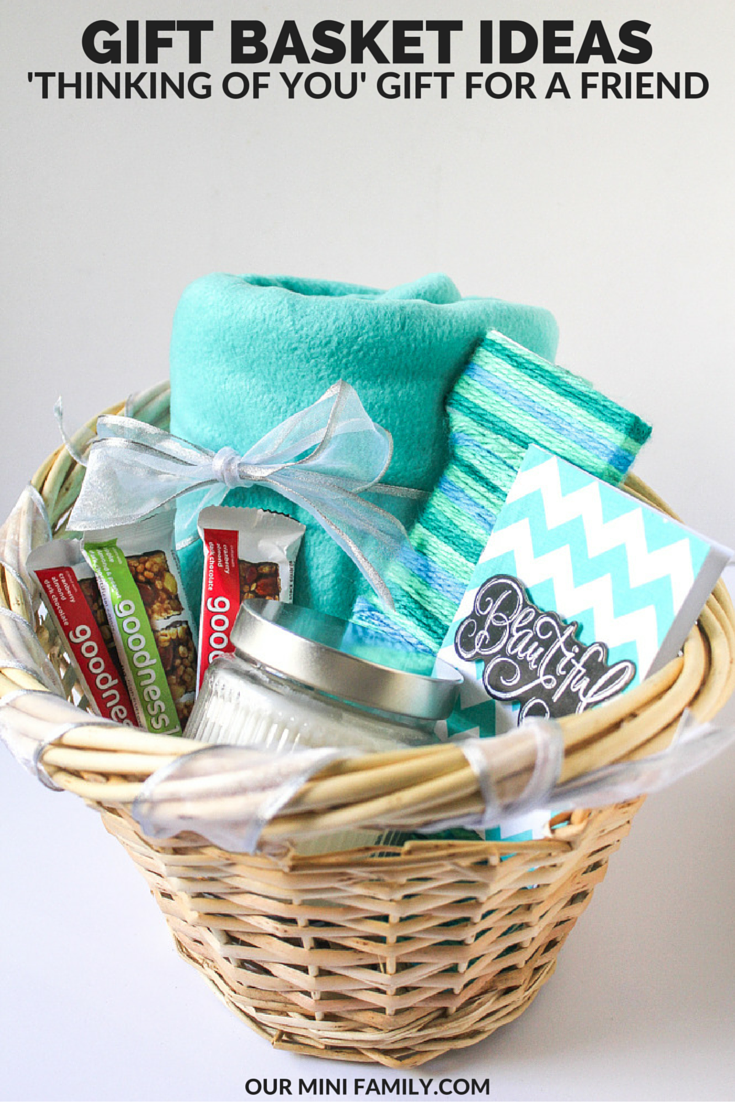 Thinking of you gift basket our mini family also i wanted to include a snack in there for her so i threw in some goodnessknows snack squares too negle Gallery