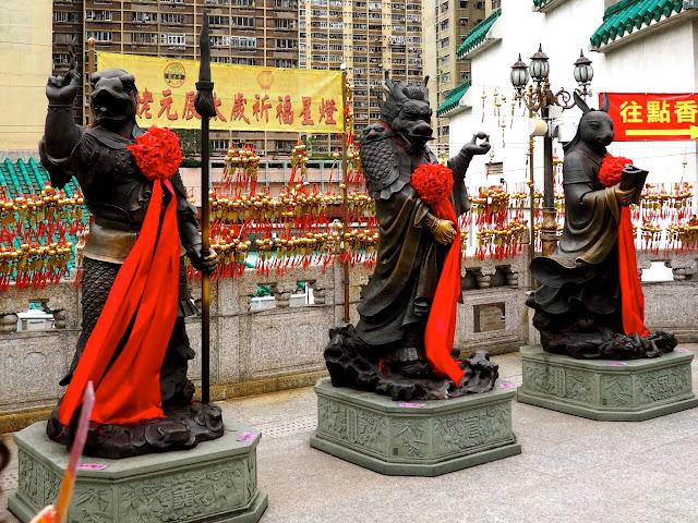 Statues of Chinese zodiac animal signs at Sik Sik Yuen Wong Tai Sin Temple, Hong Kong