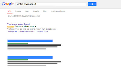 campagne google adwords sport